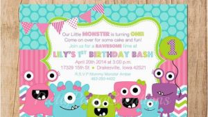 Girly Birthday Invitations Free Printable Girly Monsters Birthday Invitation You Print by Pretty