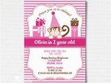 Girly Birthday Invitations Free Printable Printable Pink Monkey Invitation Little Monkey Birthday