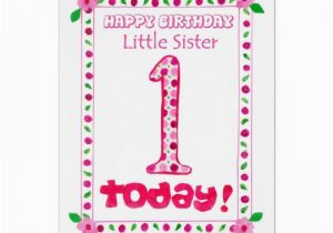 Goddaughter First Birthday Card 1st Birthday Card for A Little Sister Zazzle