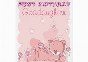Goddaughter First Birthday Card Goddaughter First 1st Birthday From Godparent Card Zazzle