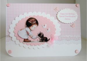 Goddaughter First Birthday Card Handmade Personalised Granddaughter Goddaughter 1st 2nd