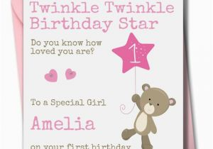Goddaughter First Birthday Card Personalised Girl Birthday Card Daughter Granddaughter