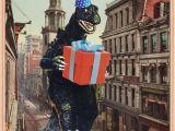 Godzilla Birthday Card Birthday Card B Movie Poster Birthday Cards Vintage