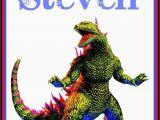 Godzilla Birthday Card Custom Godzilla Monster Card Any Name Birthday