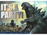 Godzilla Birthday Card Godzilla Birthday Party Invitation Godzilla Know Your Meme
