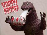 Godzilla Birthday Card Merry Octomas Everyone the Return Of Talking Time