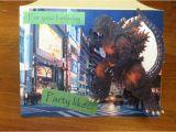 Godzilla Birthday Card Pin by Mary R On Godzilla Rules the King Pinterest