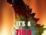 Godzilla Birthday Card Zilla Personalized Birthday Invitation 2 Sided Birthday