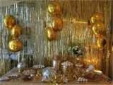 Gold Birthday Party Decorations Dough and Batter 50th solid Gold Disco Party Dessert Bar