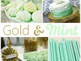 Gold Birthday Party Decorations Kara 39 S Party Ideas Mint and Gold Party Planning Ideas
