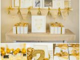 Gold Birthday Party Decorations Kara 39 S Party Ideas Sparkle and Shine Golden Birthday Party