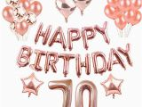 Gold Happy 70th Birthday Banner 70th Party Decorations Amazon Co Uk