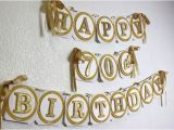 Gold Happy 70th Birthday Banner Gold Happy 70th Birthday Banner All About Details