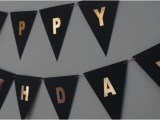 Gold Happy Birthday Banner Australia Quot Happy Birthday Quot Black Rose Gold Bunting Flag Craftee