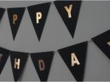 Gold Happy Birthday Banner Australia Quot Happy Birthday Quot Black Rose Gold Bunting Flag Craftee