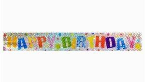 Gold Happy Birthday Banner Dollar Tree View assorted Bright Foil Quot Happy Birthday Quot