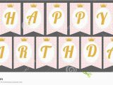 Gold Happy Birthday Banner Free Printable Cute Pennant Banner as Flags with Letters Happy Birthday