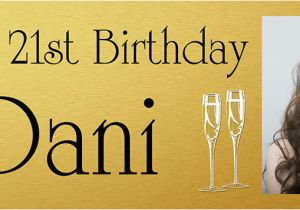 Gold Happy Birthday Banner Uk Gold Background Birthday Banner with Large Photo