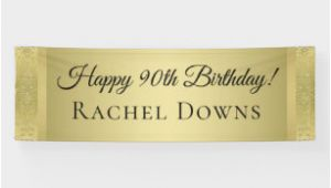 Gold Happy Birthday Banner Uk Happy Birthday Posters Prints Zazzle Uk
