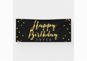 Gold Happy Birthday Banner Uk Personalized Happy Birthday Faux Gold Confetti Banner