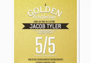 Golden Birthday Invitation Wording 8 Party Personalized Invitations