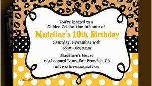 Golden Birthday Invitation Wording