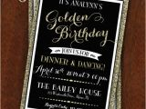 Golden Birthday Invitation Wording Golden Birthday Party Invitation Gold Black 30th Birthday