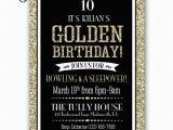 Golden Birthday Invitation Wording Golden Birthday Party Invitation Gold Black Birthday