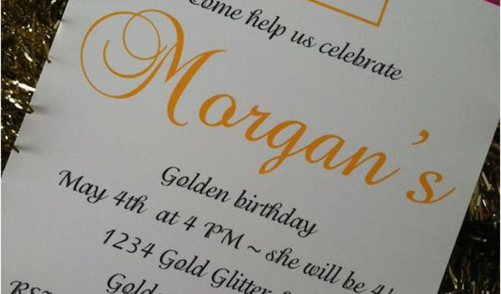Download By SizeHandphone Tablet Desktop Original Size Back To Golden Birthday Invitation Wording