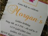 Golden Birthday Invitation Wording Items Similar to Golden Birthday Party Invitations
