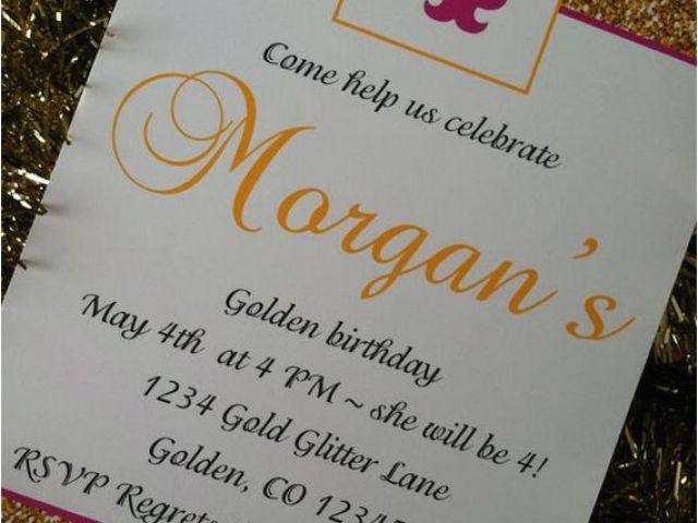 Download By SizeHandphone Tablet Desktop Original Size Back To Golden Birthday Invitation Wording
