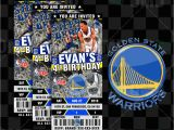 Golden State Warriors Birthday Invitations Custom Golden State Warriors Basketball Ticket Style