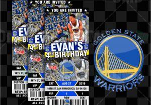 Golden State Warriors Birthday Invitations Custom Golden State Warriors Basketball Ticket Style