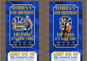 Golden State Warriors Birthday Invitations Golden State Warriors Basketball Birthday Party Ticket