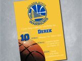 Golden State Warriors Birthday Invitations Golden State Warriors Digital Birthday Invitation by