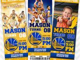 Golden State Warriors Birthday Invitations Golden State Warriors Invitation Steph Curry Invitation