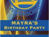 Golden State Warriors Birthday Invitations Golden State Warriors Nba Birthday Invitation Basketball