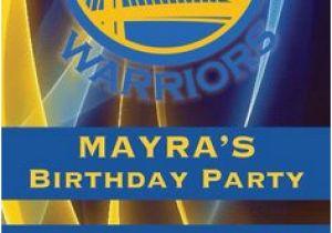 Golden State Warriors Birthday Invitations Golden State Warriors Nba Birthday Invitation Basketball