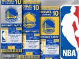 Golden State Warriors Birthday Invitations Golden State Warriors Nba Birthday Invitation by Digisport