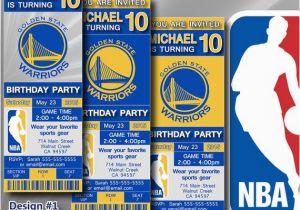 Golden State Warriors Birthday Invitations Golden State Warriors Nba Birthday Invitation by Digisport