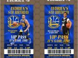 Golden State Warriors Birthday Invitations Golden State Warriors Nba Team Birthday Party Ticket Invit