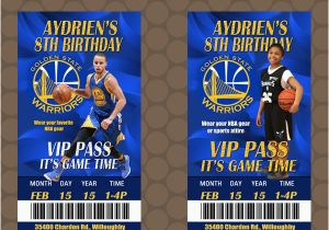 Golden State Warriors Birthday Invitations Golden State Warriors Nba Team Birthday Party Ticket Invit