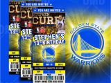 Golden State Warriors Birthday Invitations Golden State Warriors Sports Ticket Style Party Invites
