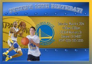 Golden State Warriors Birthday Invitations Nba Golden State Warriors Birthday Invitation Kustom