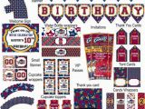 Golden State Warriors Happy Birthday Banner Cleveland Cavaliers Basketball Birthday Party by