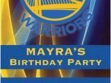 Golden State Warriors Happy Birthday Banner Golden State Warriors Birthday Invitation Ticket