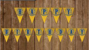Golden State Warriors Happy Birthday Banner Golden State Warriors Digital Happy Birthday Banner Party Diy