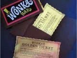 Golden Ticket Birthday Invitation 12 Willy Wonka Golden Tickets as Birthday Invitations with