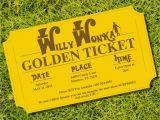 Golden Ticket Birthday Invitation Golden Ticket Invitation Birthday Party theme Instantly