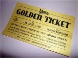Golden Ticket Birthday Invitation Golden Ticket Party Invitations Printed Willy Wonka Invitation
